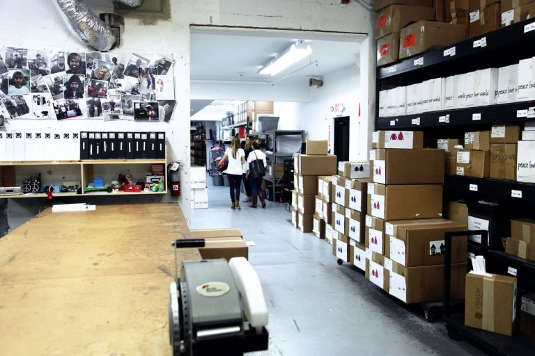 Theres A Separate P O Studio Inside The Warehouse As Well As A Stark White Runway Where Merchandise Is Modeled For Peace Love Worlds Online Shop
