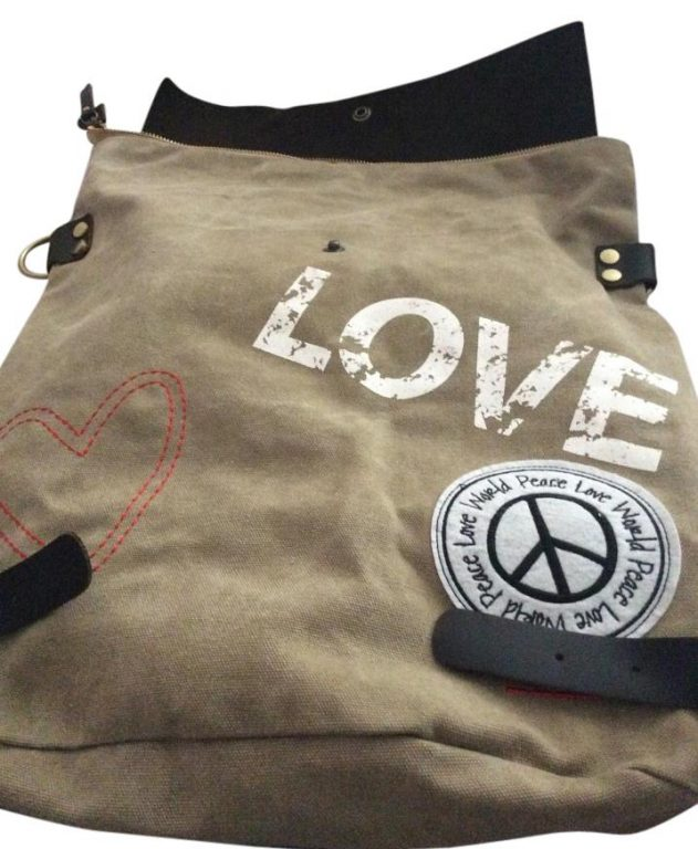 Peace Love World Army Summer Weekend Backpack