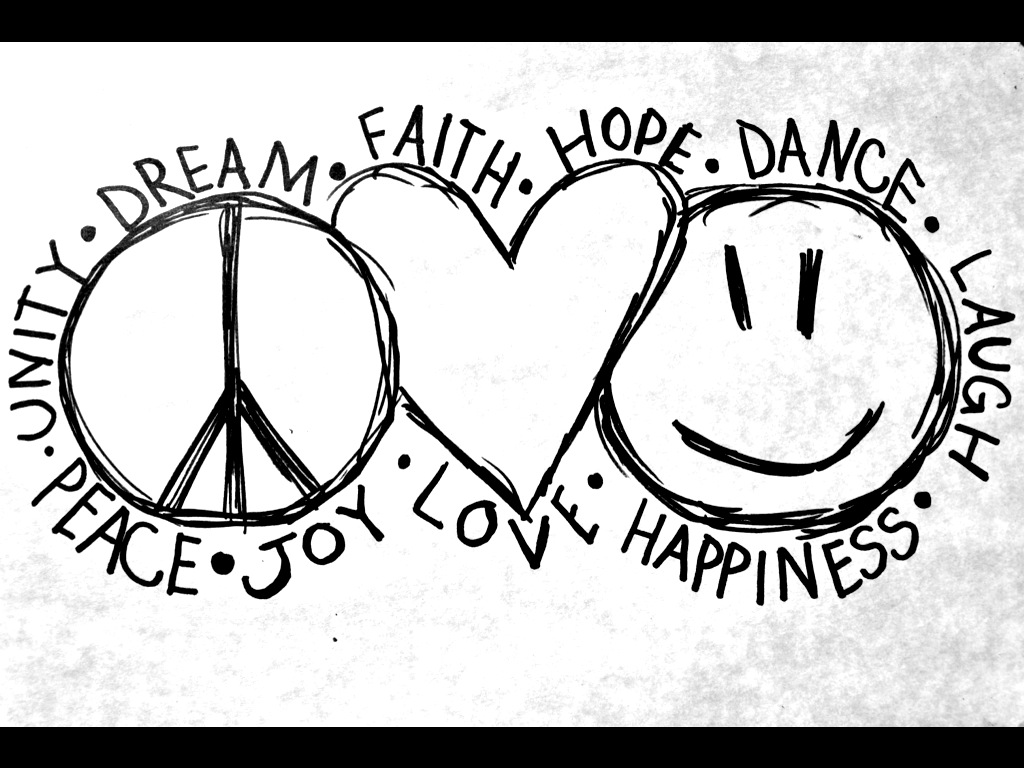 Peace Love And Happiness  By Rebelrevolution