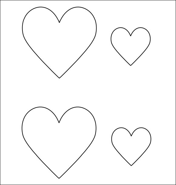 Printable Heart Template