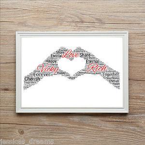 Valentines Boyfriend Girlfriend Husband Wife Love Word Art