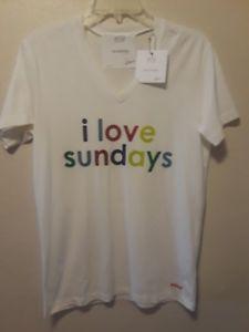 Image Is Loading Peace Love World Tshirt I Love Sundays Size