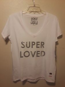 Image Is Loading New Peace Love World T Shirt Super Loved