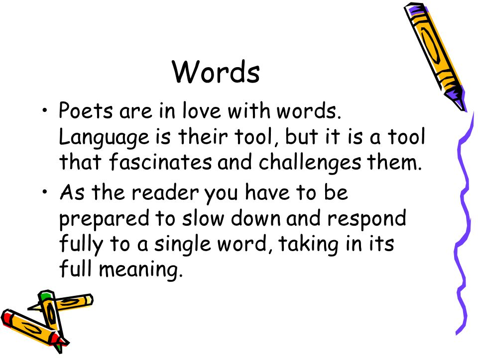 Words Poets Are In Love