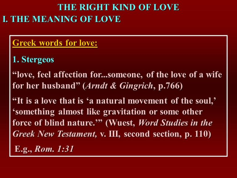 The Right Kind Of Love I The Meaning Of Love Greek Words For Love