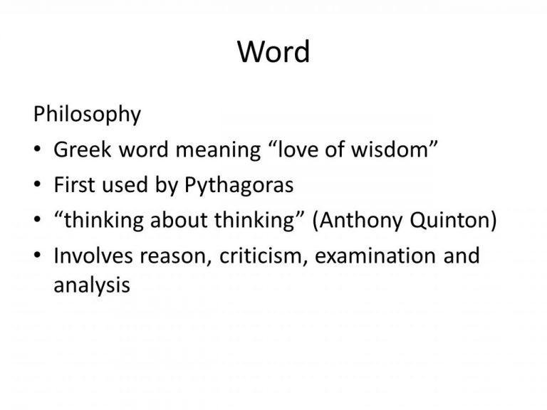 Word Philosophy Greek Word Meaning Love Of Wisdom