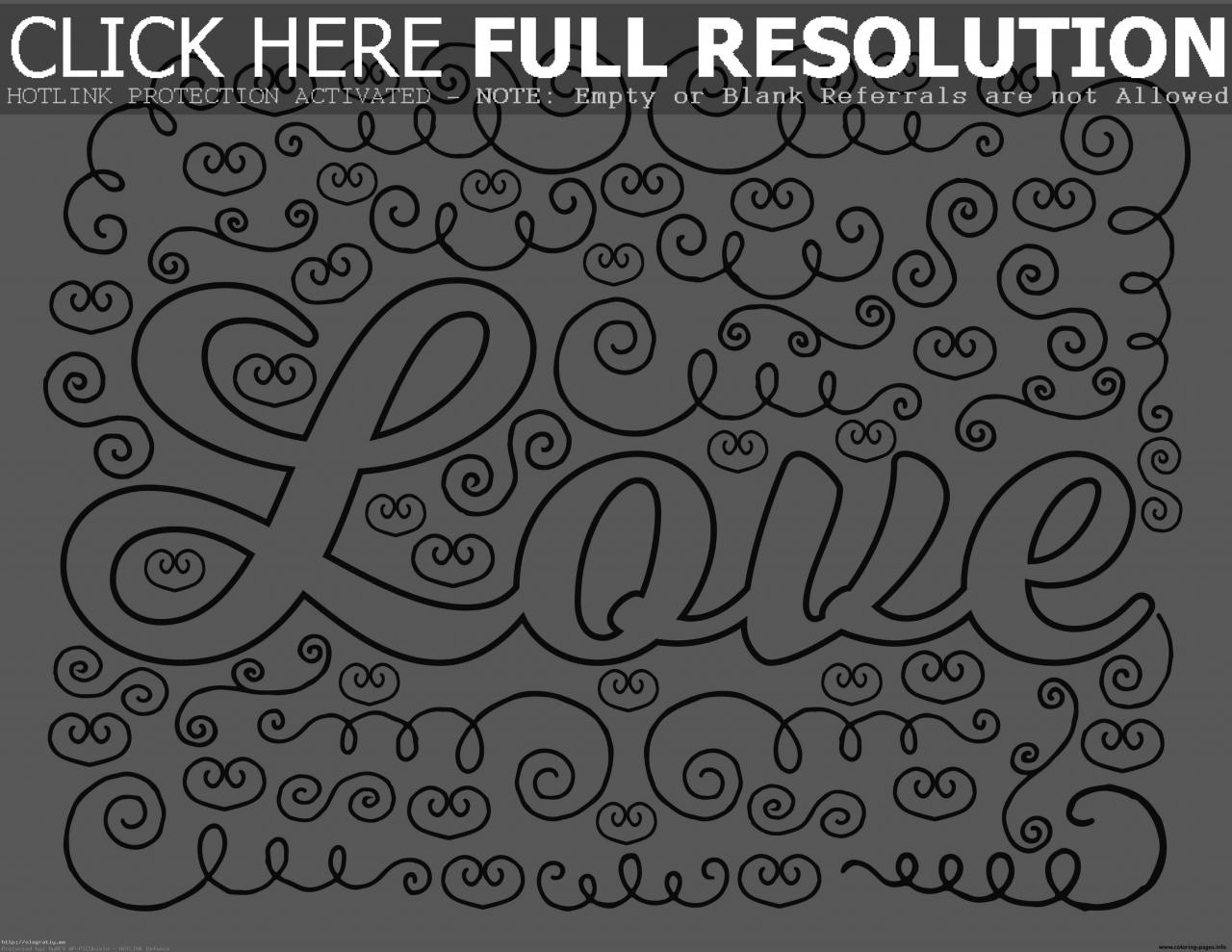 Spectacular Word Love Coloring Pages With And Studynow Me Picturesque