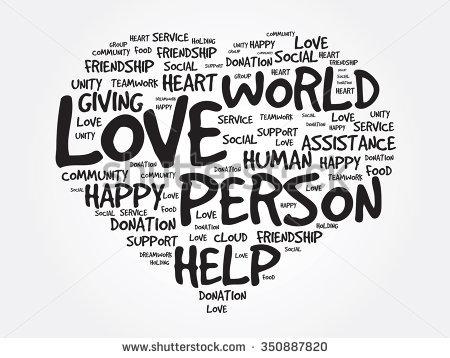 Love Heart Word Cloud Concept Word Collage Emotion Marriagevalentine Desire