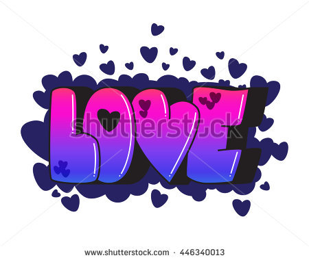 Graffiti Love Word Street Art Spray Paint