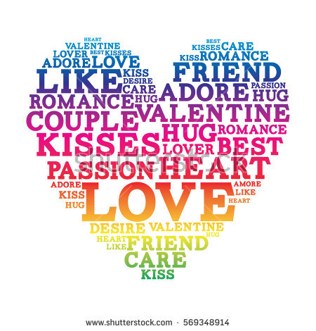 Love Word Cloud Valentines Day