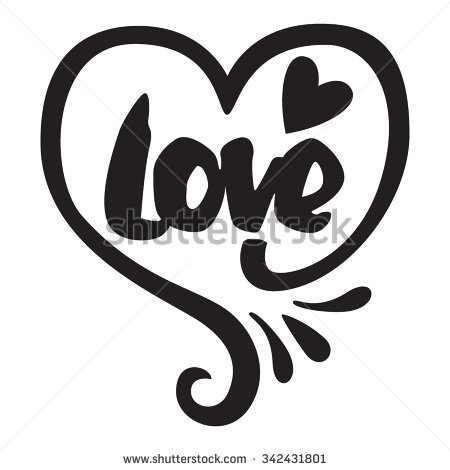 The Heart With The Word Love Black Color One Color Love Cele Tion