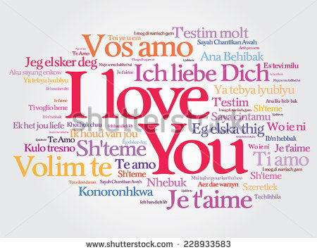 Vector Love Words I Love You In All Languages Of The World Words