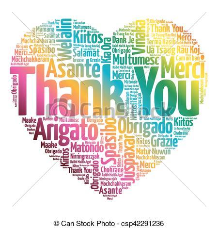 Thank You Love Heart Word Cloud Csp