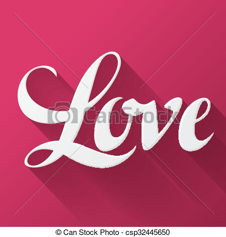 Valentine Day Background With Word Love On Pink Background Design Greeting Cards And Banners
