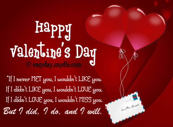 Valentines Day Quotes For Boyfriend Stunning Red Card With Sweet Themed Ill Never Met You I
