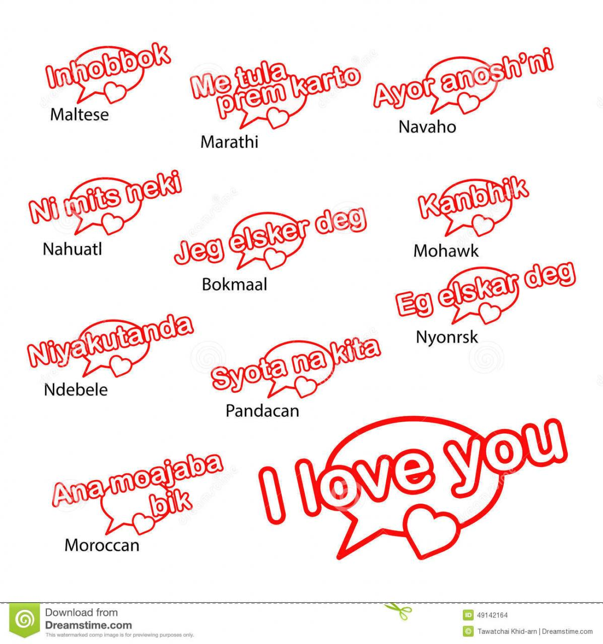 Word I Love You In Different Languages Love Concept Marry Marathi