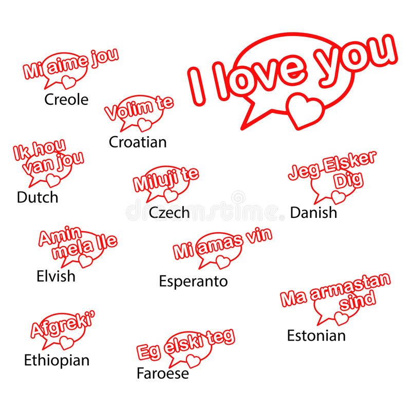 Download Word I Love You In Different Languages Love Concept Stock Vector Il Ration Of