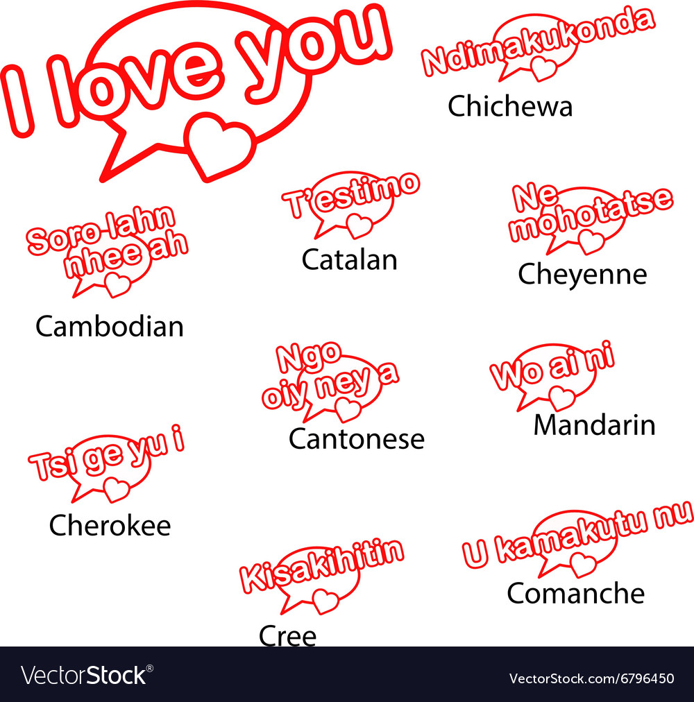 I Love You Word In Different Languages Hover Me