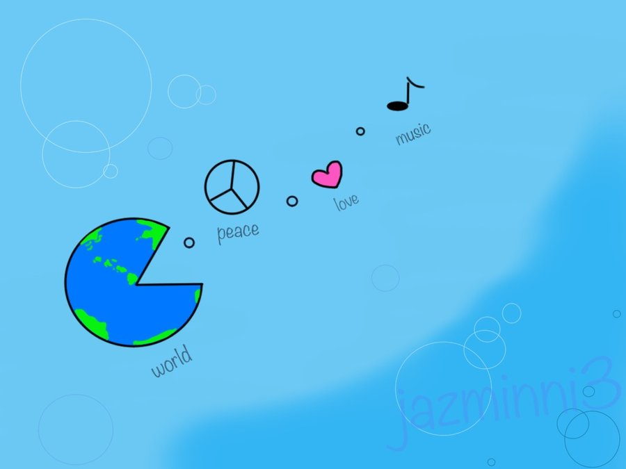 World Peace Love Music By Jazminni