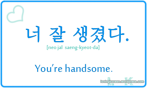 You Are Handsome Pretty Good Looking In Korean