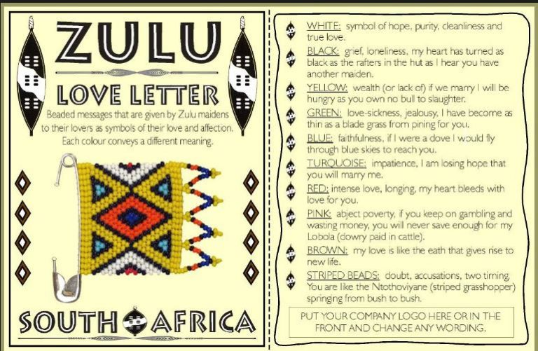 Zulu Beaded Love Messages Decoded