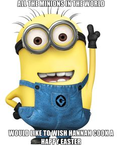 Cute Happy Easter Minion Wish