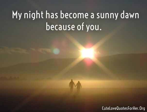 Cute One Line Love Saying Quote