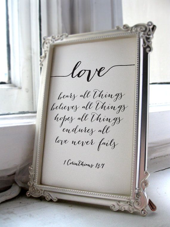 Wedding Quote From The Bible Verse Print Wall By Twobrushesdesigns Weddingquotes