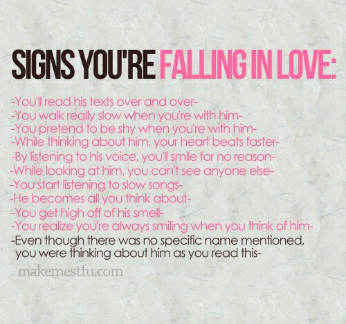 Signs That Your Falling In Love