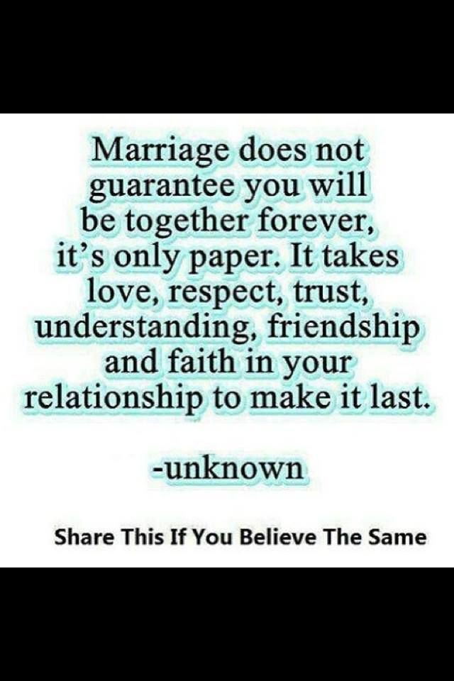 Marriage Relationships Love Understanding Respect Trust Quote