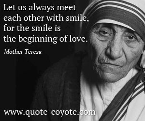 Mother Teresa Quotes On Service To Others Google Search