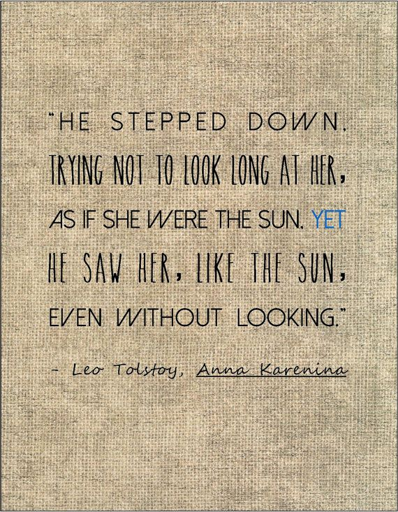 Tolstoy Anna Karenina Literary Quote Love By Jenniferdare