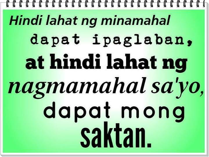 Tagalog Sad Love Quotes Ipaglaban At Saktan