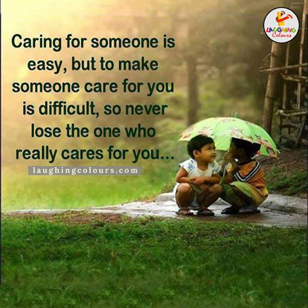 Caring For Someone Is Easy But