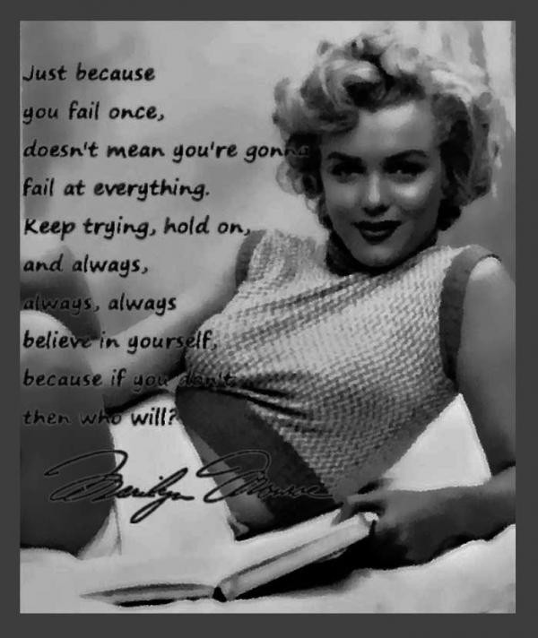 Inspirational Words Quotes Sayings Marilyn Monroe