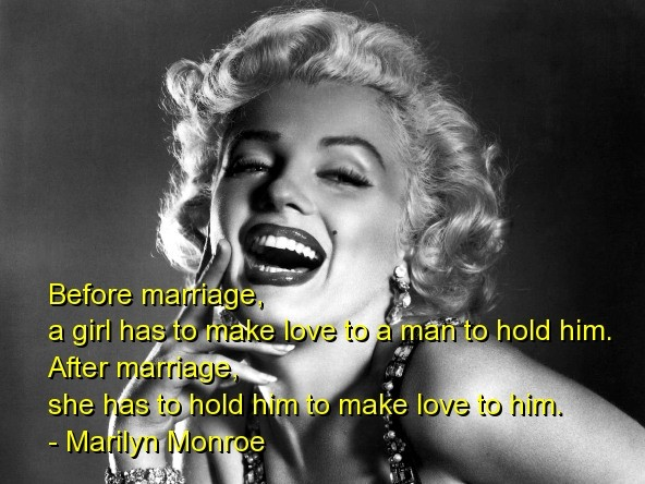 Marilyn Monroe Quotes Sayings Marriage Love Relationships
