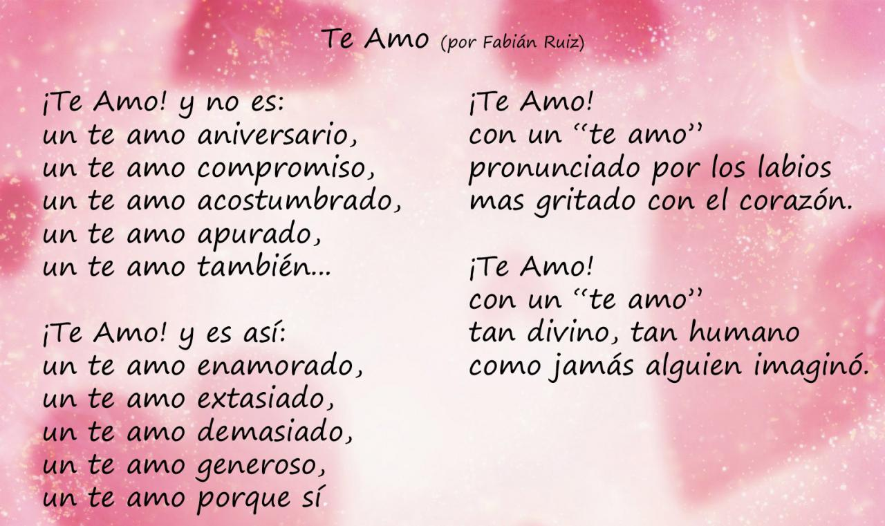 New Love Quotes In Spanish My Love Quotes Love Poems In Spanish