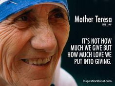 Mother Teresa Giving Quotes