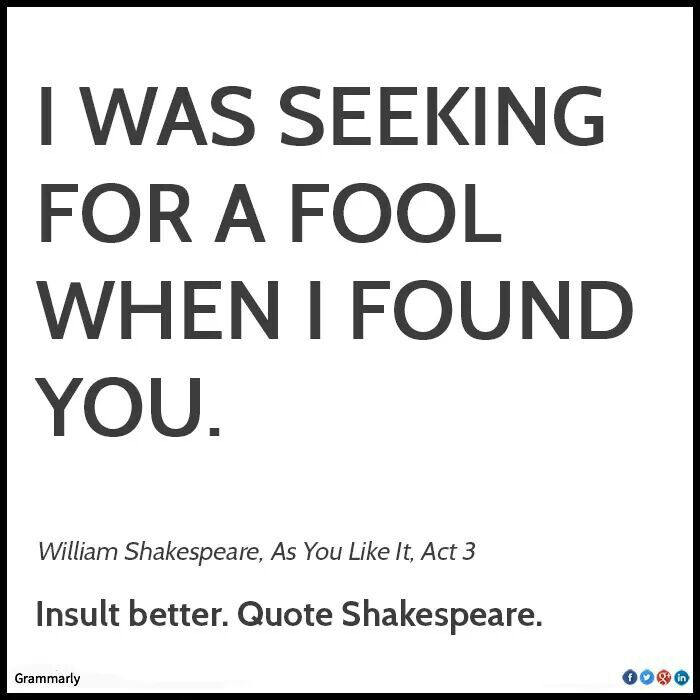 Quote Shakespeare And Enjoy Life