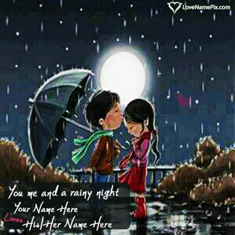 Love Couple Rain Quotes Hover Me