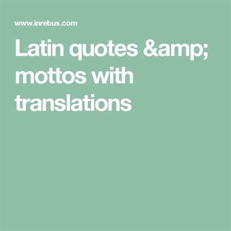 Quotes With Translation In Latin