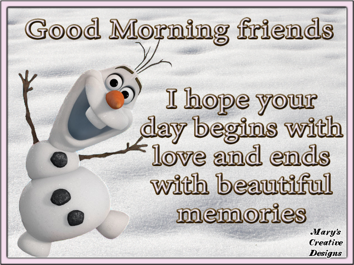 Olaf Good Morning Quote For Friends