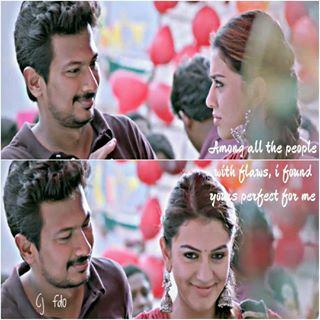 Udhay Udhayanithi_stalin Hansikamotwani Manithan Love Lovequote Kollywood Tamil