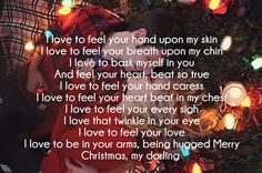 Christmas Love Poem Images