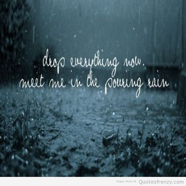 Cute Quotes About The Rain That Really Inspired You
