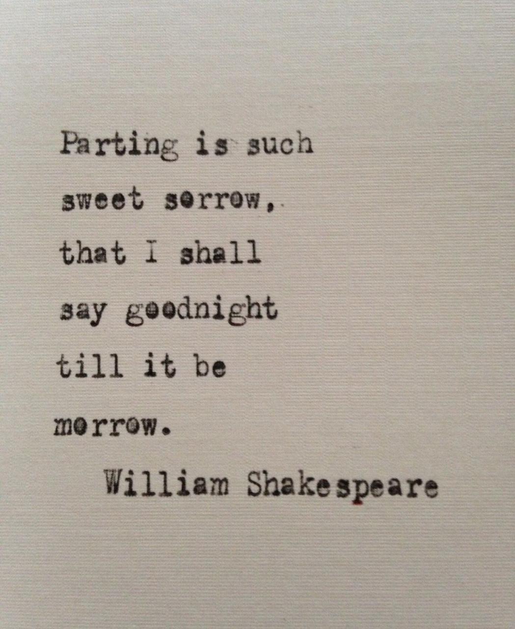 William Shakespeare Love Quote Romeo And Juliet Hand Typed On Antique Typewriter Gift Girlfriend Boyfriend Husband