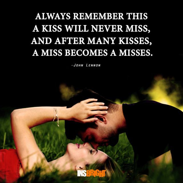 Romantic Love Kiss Quotes For Him Or Her Kissing Quotes With Images