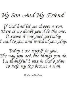 For My Sons William Dakota And Paris