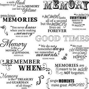 Fiskars Clear Acrylic Stamps Good Times Quotes