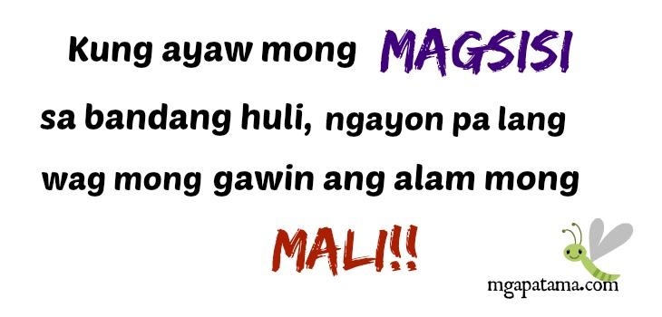 Tagalog Patama Quotes Mali Quotes